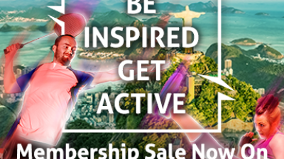 Be Inspired, Get Active – Membership Sale Now On